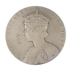 George VI, Coronation 1937, official silver medal by P
