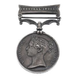 Indian Mutiny Medal, Central India clasp named to 'W,
