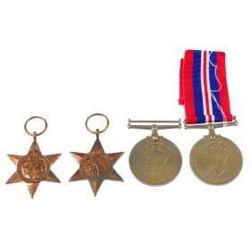 Second World War, 1939-45 War Medal, 1939-45 star,