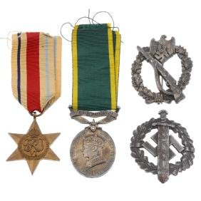A family collection of medals comprising, Efficiency