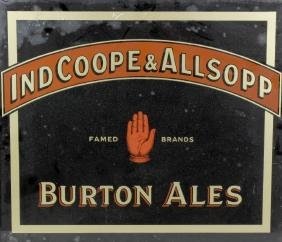 A Burton Ales advertising sign of rectangular form,