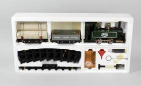 A Mamod live steam model railway, model train set in