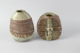 A collection of studio pottery and other items. To