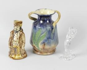 A box containing assorted ceramics and glass. To
