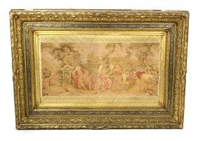 A 19th century carved and moulded giltwood frame, with