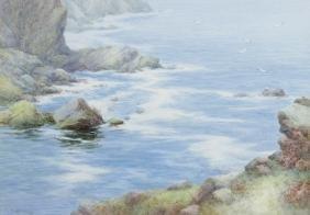 L Mortimer (20th century)Cornish coastal scene