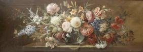 A Continental still life of flowers Probably French or