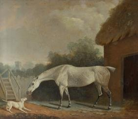 Clifton Tomson, (1775-1828) A grey Hackney horse with