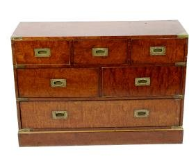 A pair of reproduction mahogany campaign or military