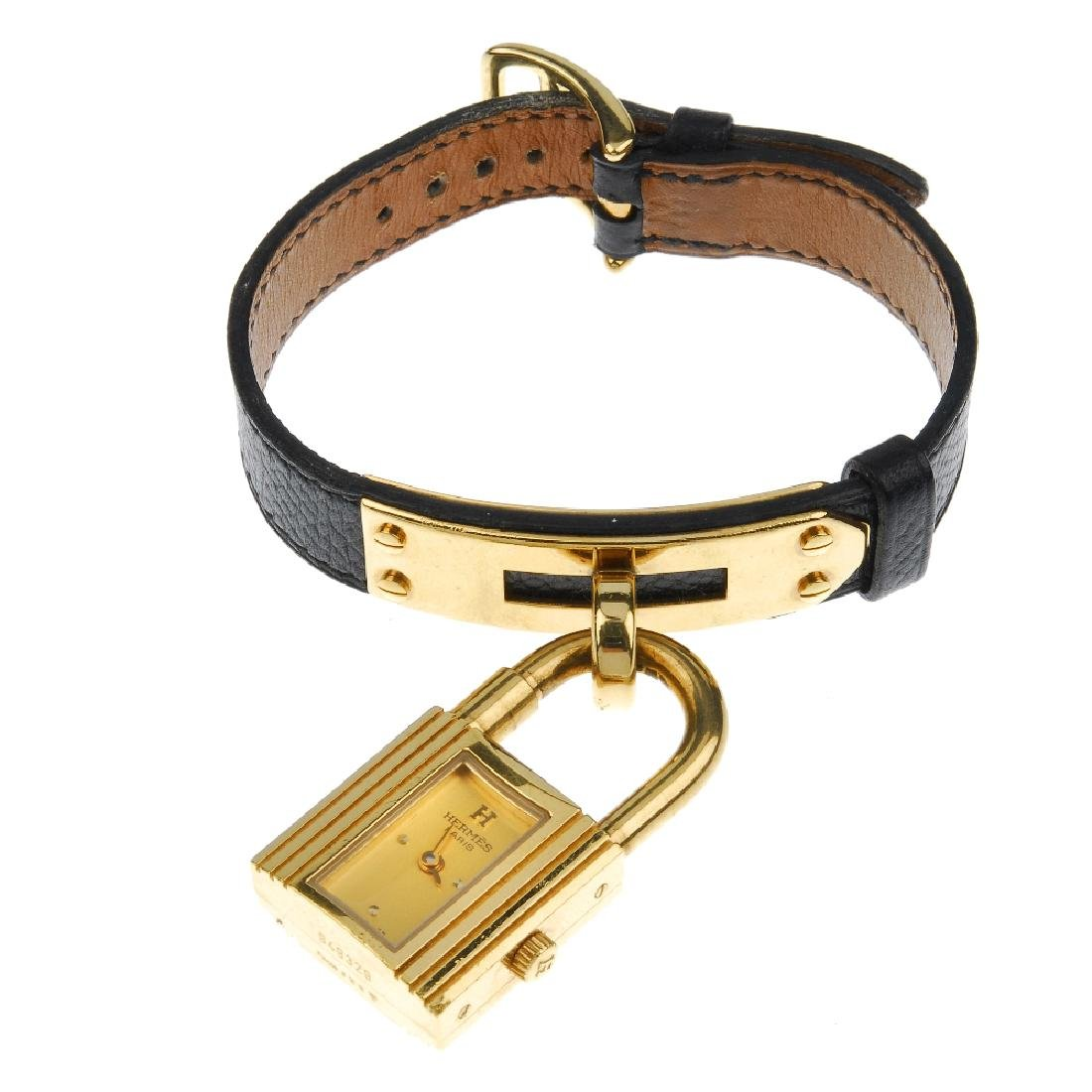 HERMÈS - a lady's Kelly wrist watch. The gold plated