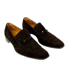 Louis Vuitton - A Pair Of Men's Suede Loafers. Designed
