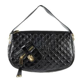 MARC JACOBS - a black patent leather quilted Ursula