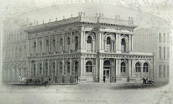 958: Bank of California Plate