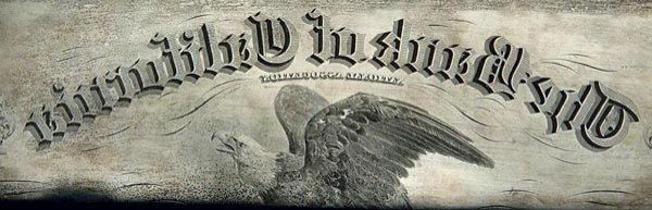 959: Bank of California Stock Certificate Plate