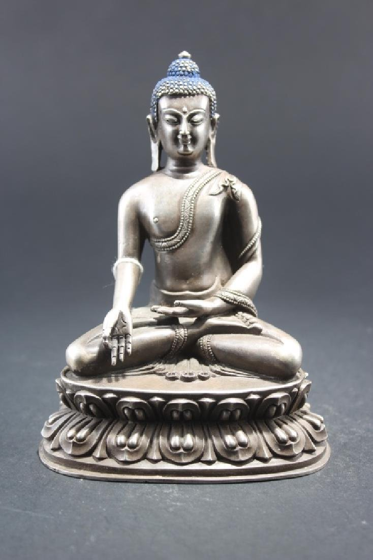 GILT BRONZE SAKYAMUNI FIGURE