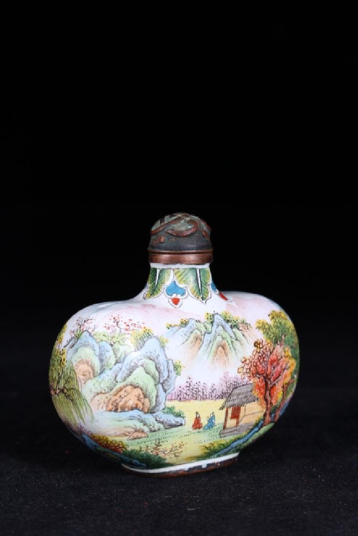 BRONZE BODY ENAMEL SNUFF BOTTLE