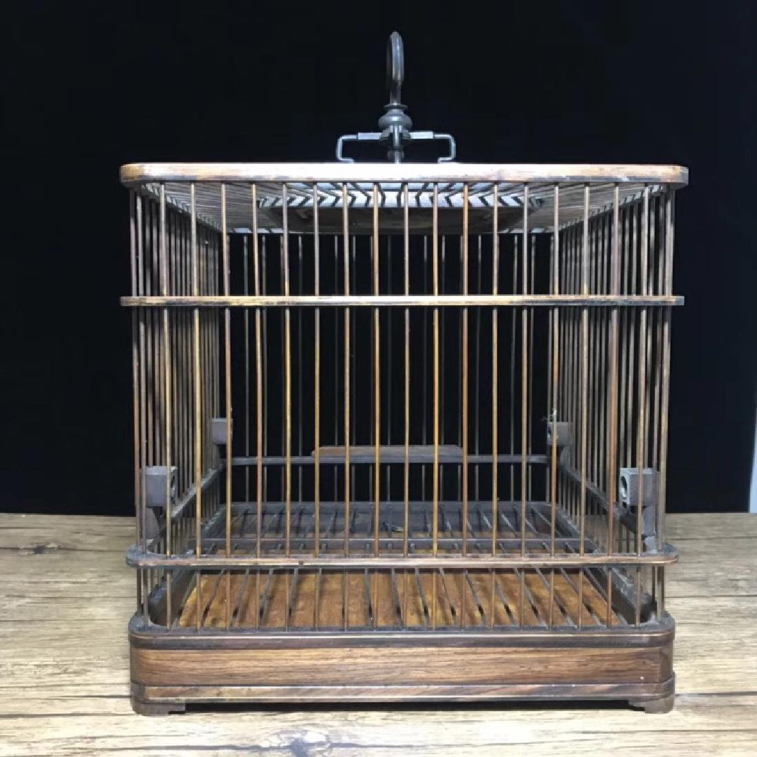 FINE ROSEWOOD BIRD CAGE