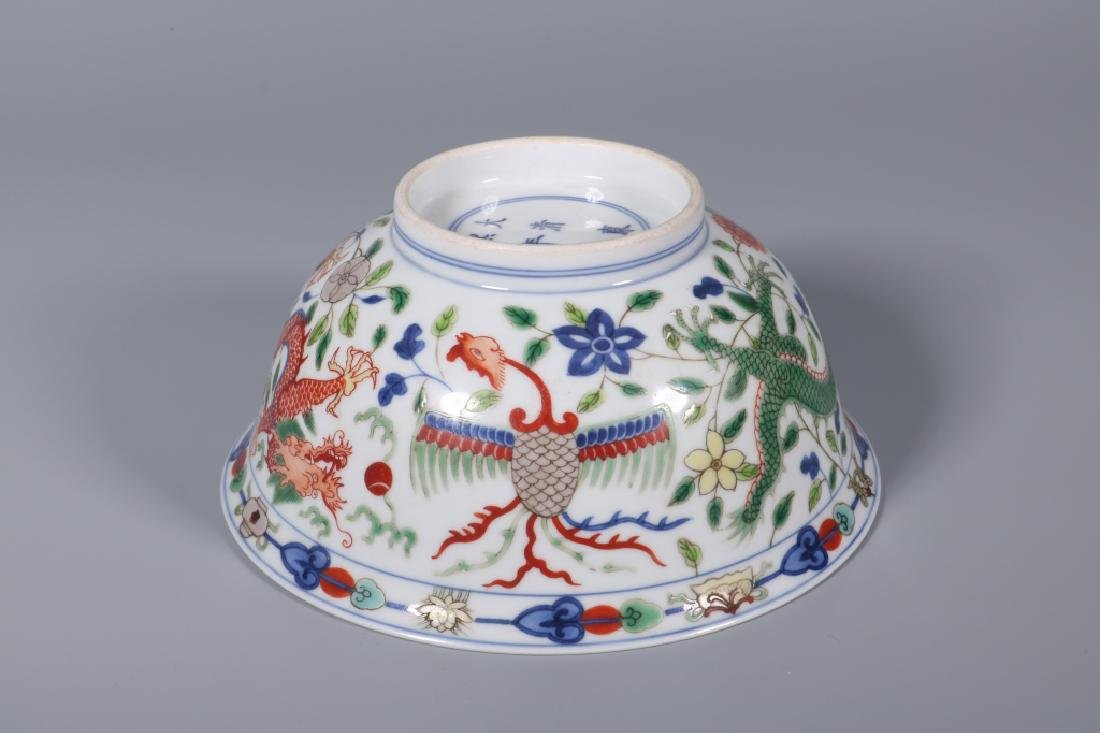 WU CAI DRAGON AND PHOENIX BOWL - 7