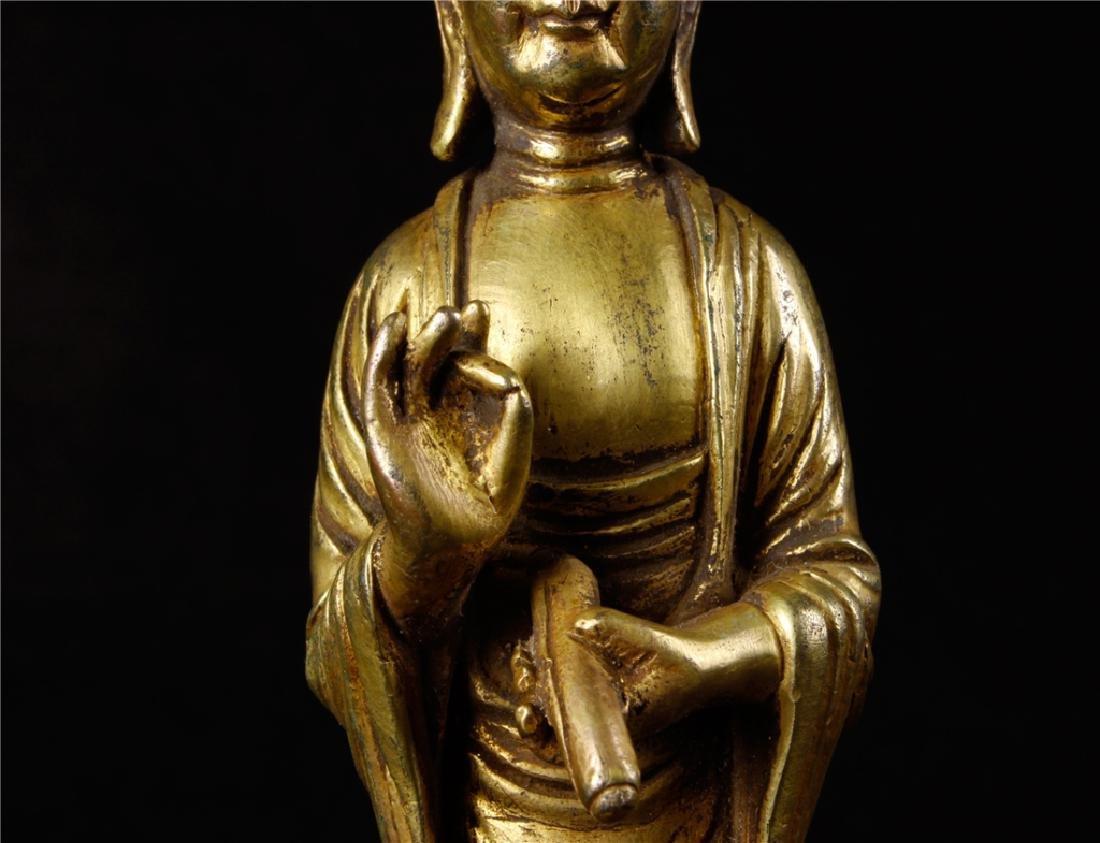 GILDING BRONZE BUDDHA FIGURE - 3