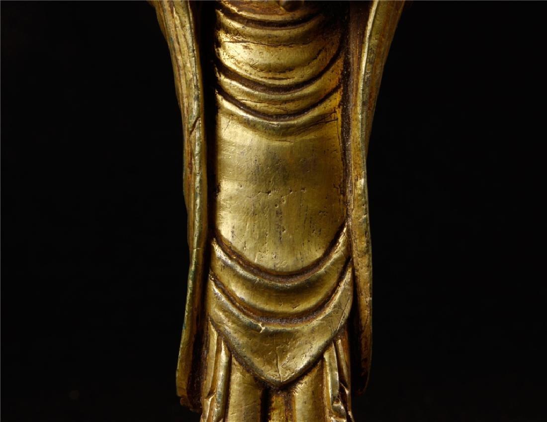 GILDING BRONZE BUDDHA FIGURE - 4