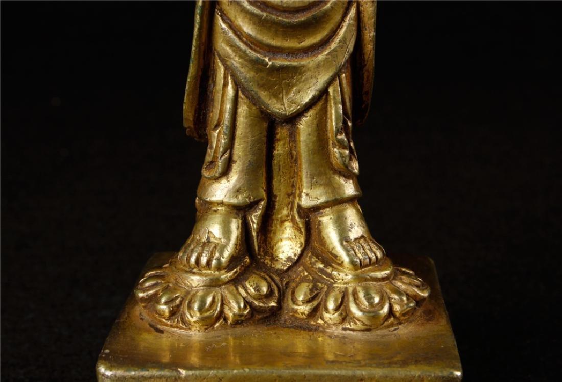 GILDING BRONZE BUDDHA FIGURE - 5