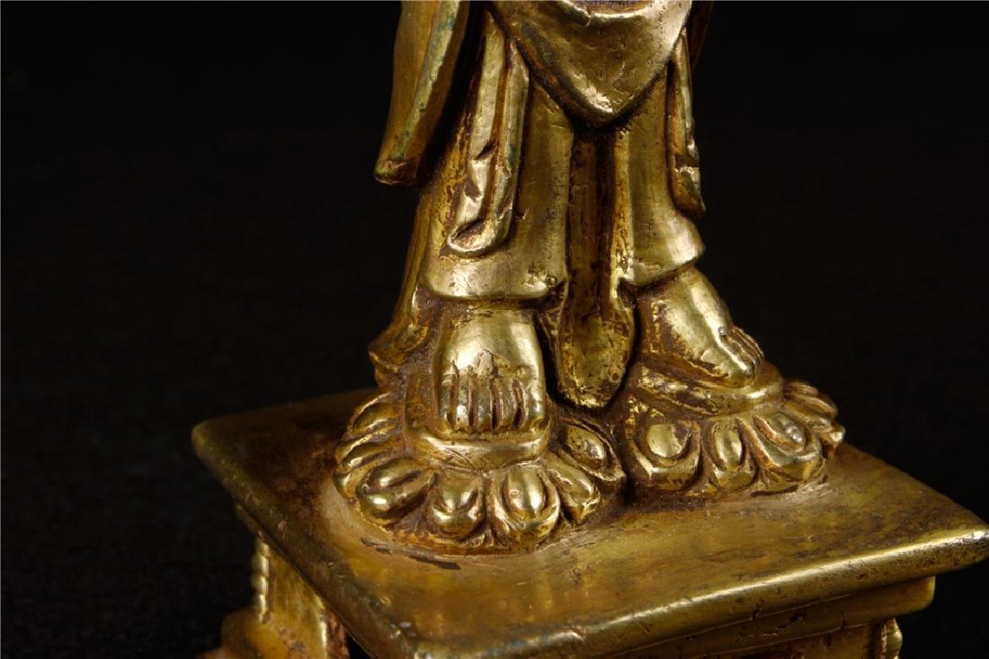 GILDING BRONZE BUDDHA FIGURE - 6