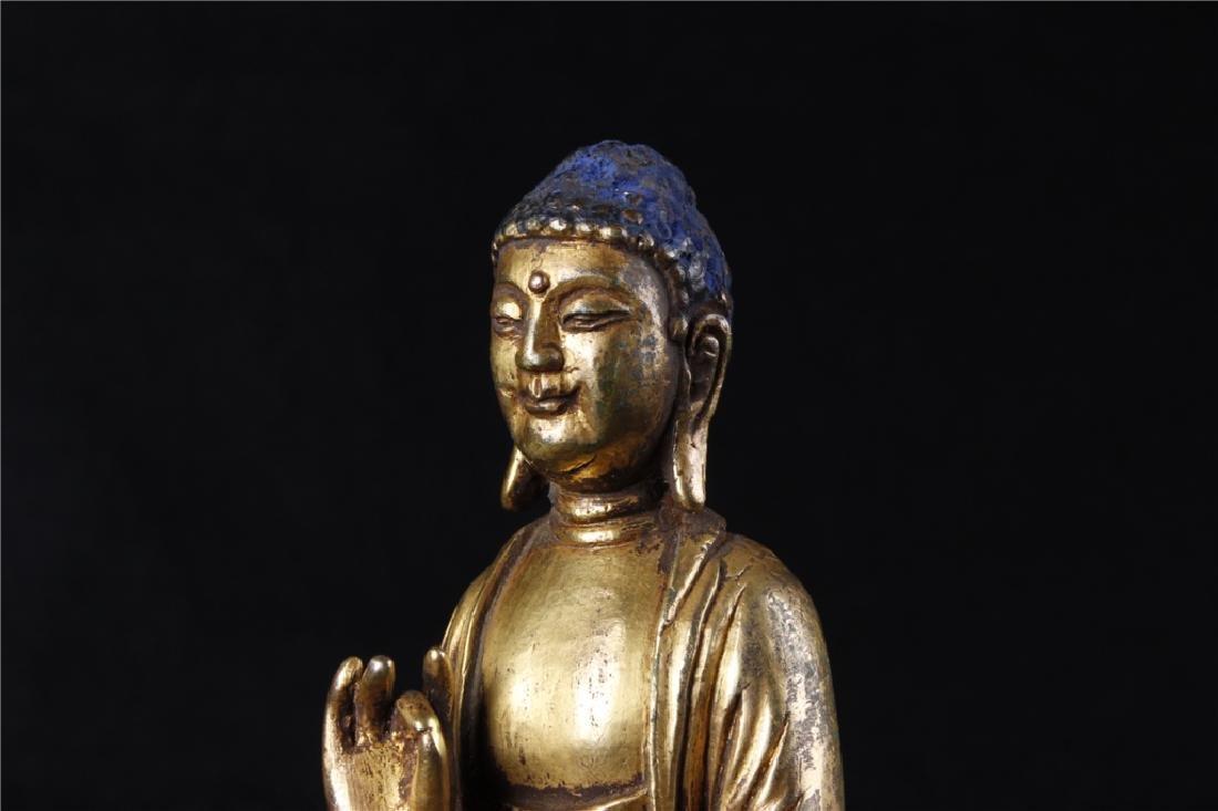 GILDING BRONZE BUDDHA FIGURE - 8