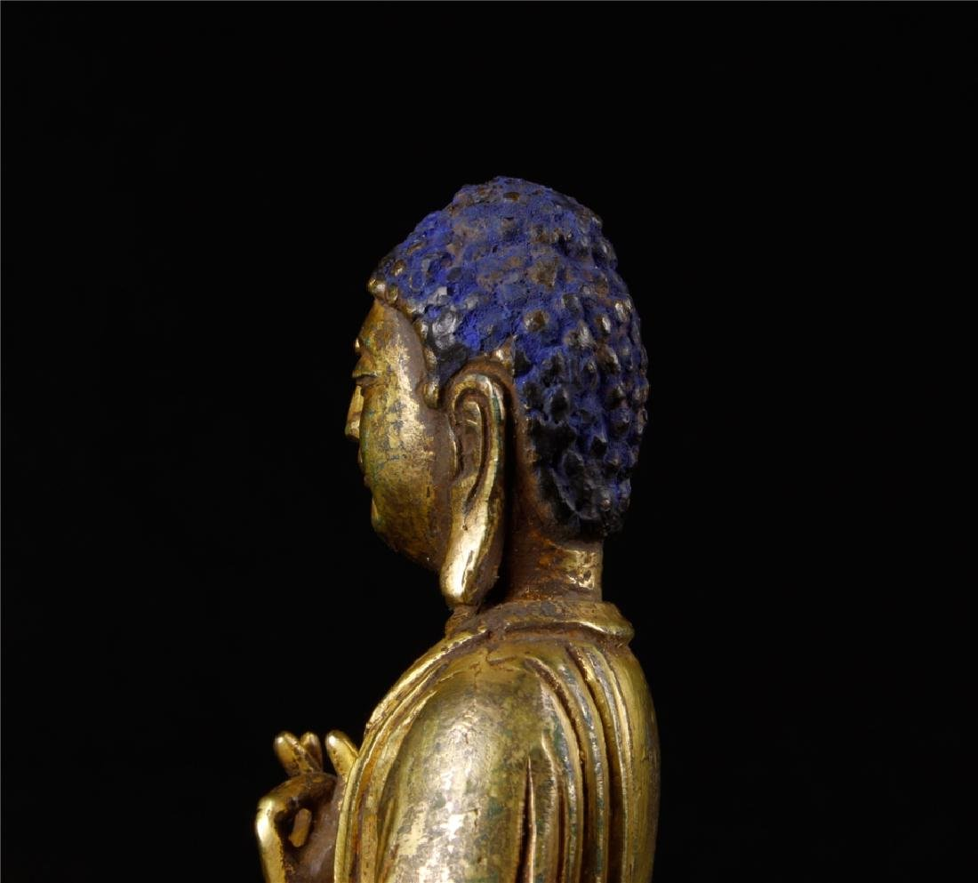 GILDING BRONZE BUDDHA FIGURE - 9