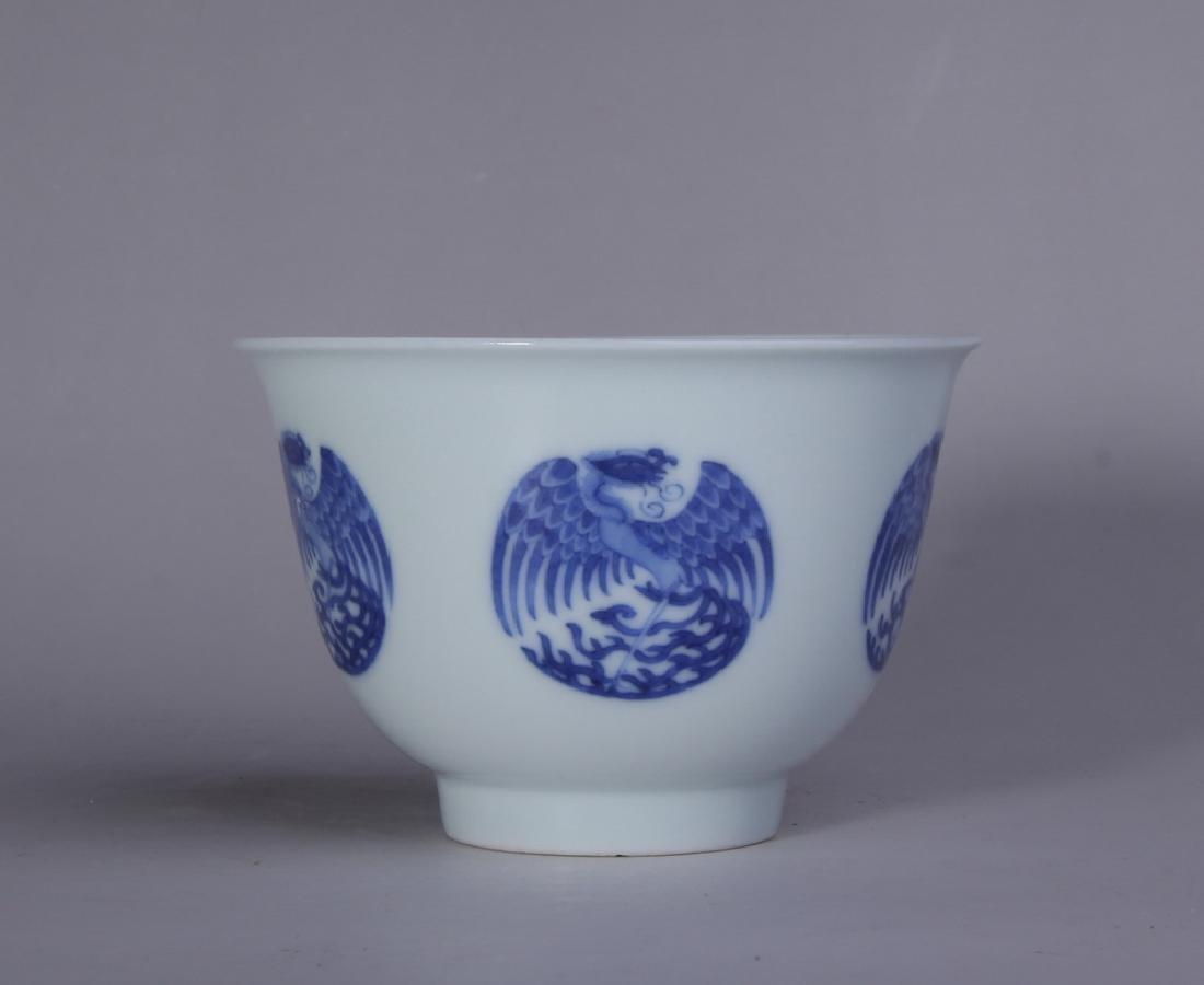 BLUE AND WHITE PHOENIX GRAIN BOWL - 4