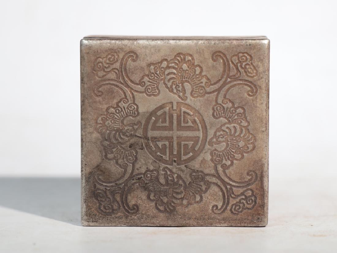 An antique copper compact - 3