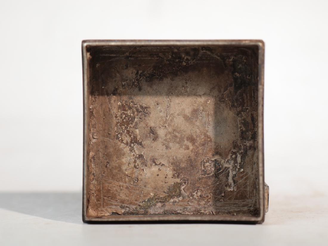 An antique copper compact - 5