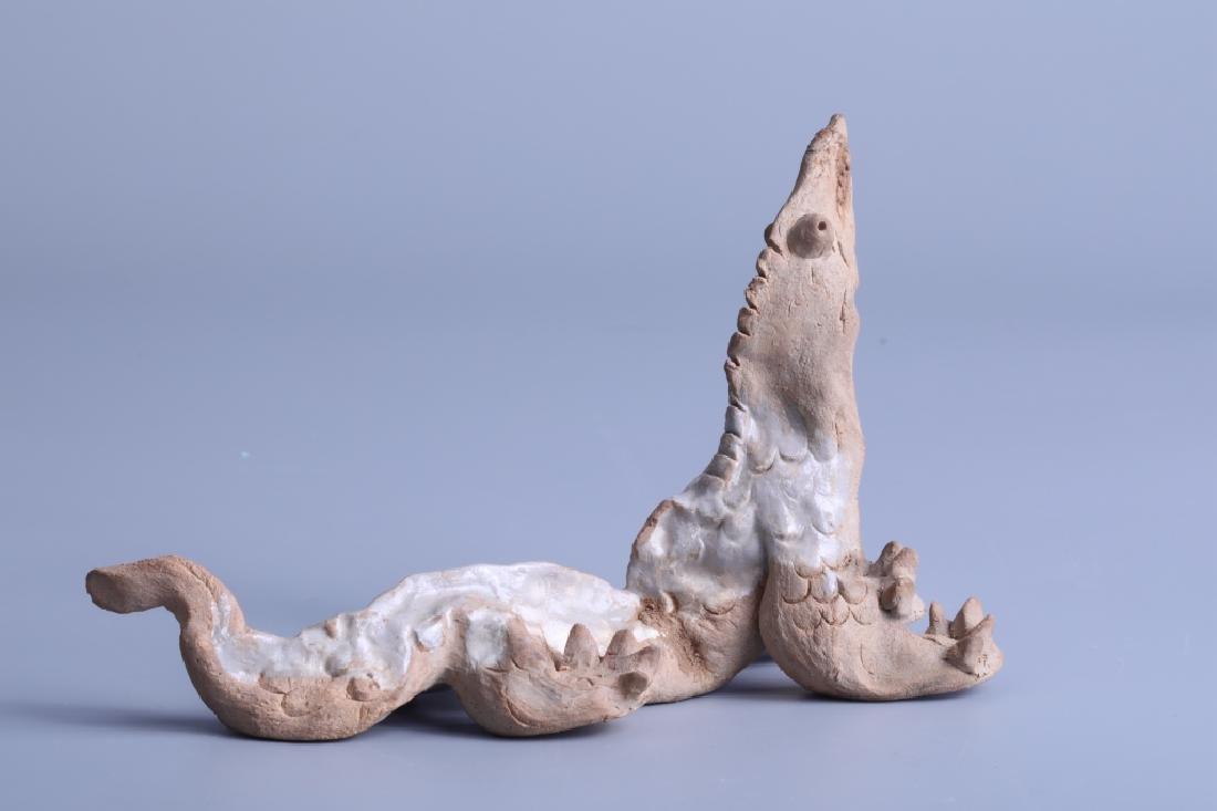 white glazed beast statue - 2