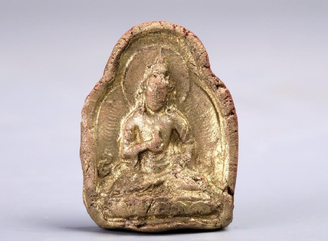 Golden terracotta pendant