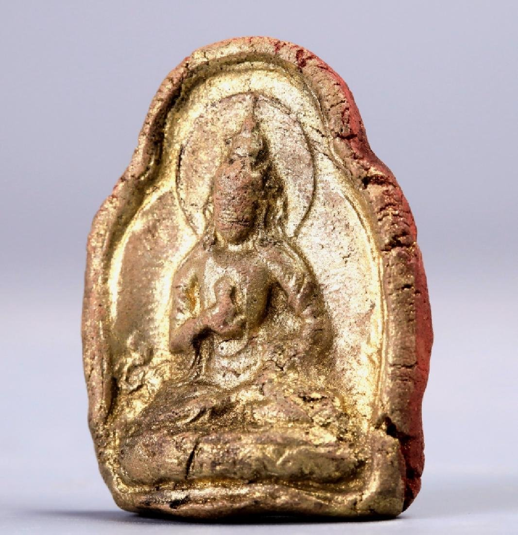 Golden terracotta pendant - 5