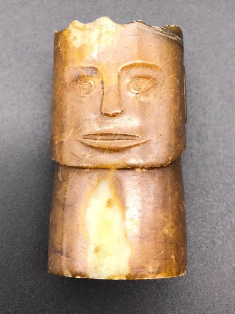 character face cylinder decoration