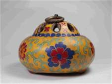 PURPLE SANDS CLOISONNE INCENSE BURNER