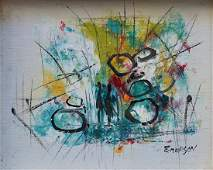 DAVID EMERSON UK 20th C Abstract Oil Painting