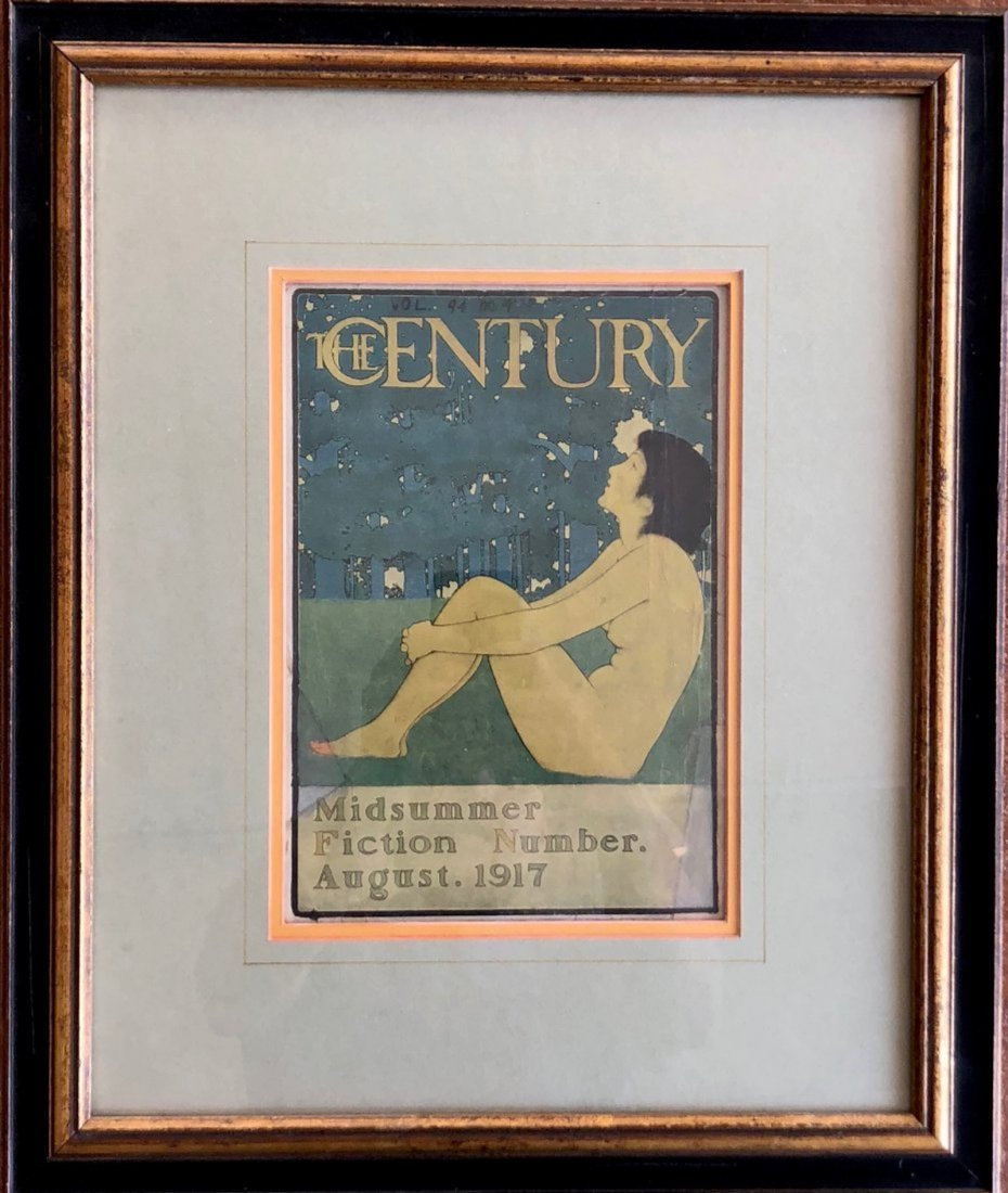 MAXFIELD PARRISH The Century 1917 Lithograph Framed