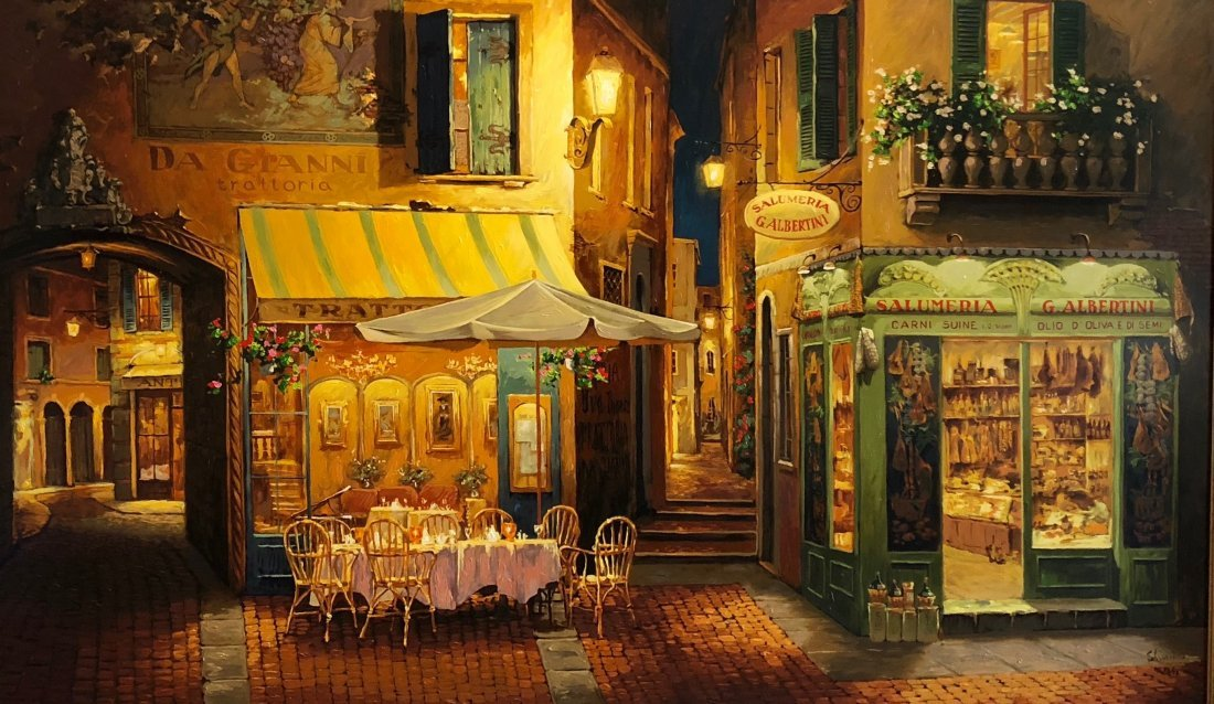 VIKTOR SHVAIKO (b. 1965) Evening In Verona Giclee