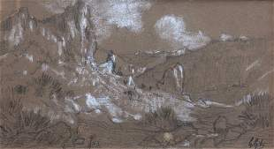 Illegibly Signed French Impressionist 19th C Landscape