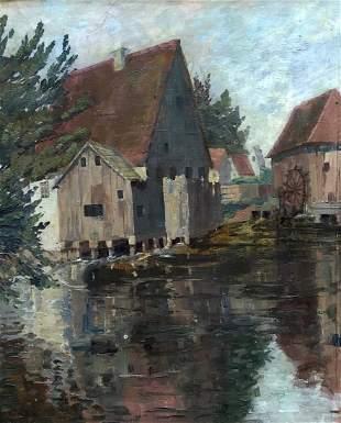 JEAN ANACKER (Germany, 1878-1955) Munich Grist Mill