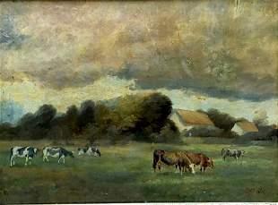 German Impressionist Landscape Signed Matlock