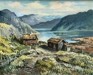 LEIV ERIKSEN (Norway, 20th C.) Fjords