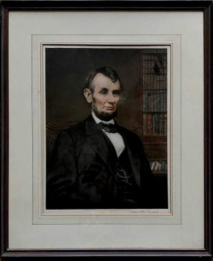 T. HAMILTON CRAWFORD Signed Portrait Of Abraham Lincoln