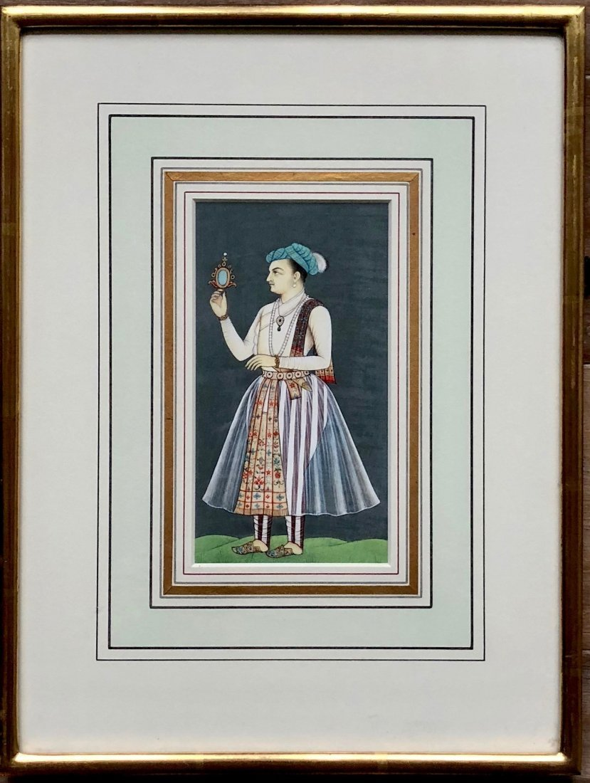 Mughal Empire Emperor Figural Painting