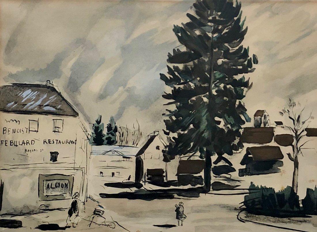 Andre Dunoyer de Segonzac (French, 1884-1974) Village