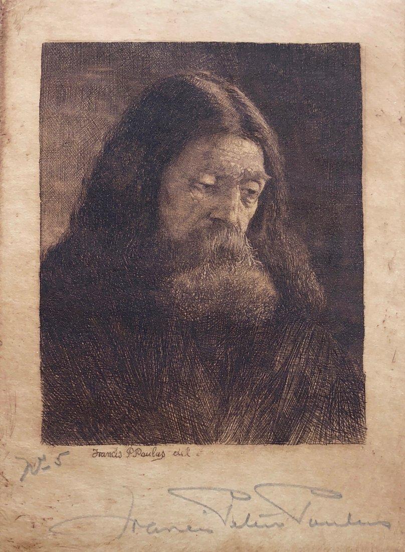 FRANCIS PAULUS (Michigan, 1862-1933) Jesus Portrait