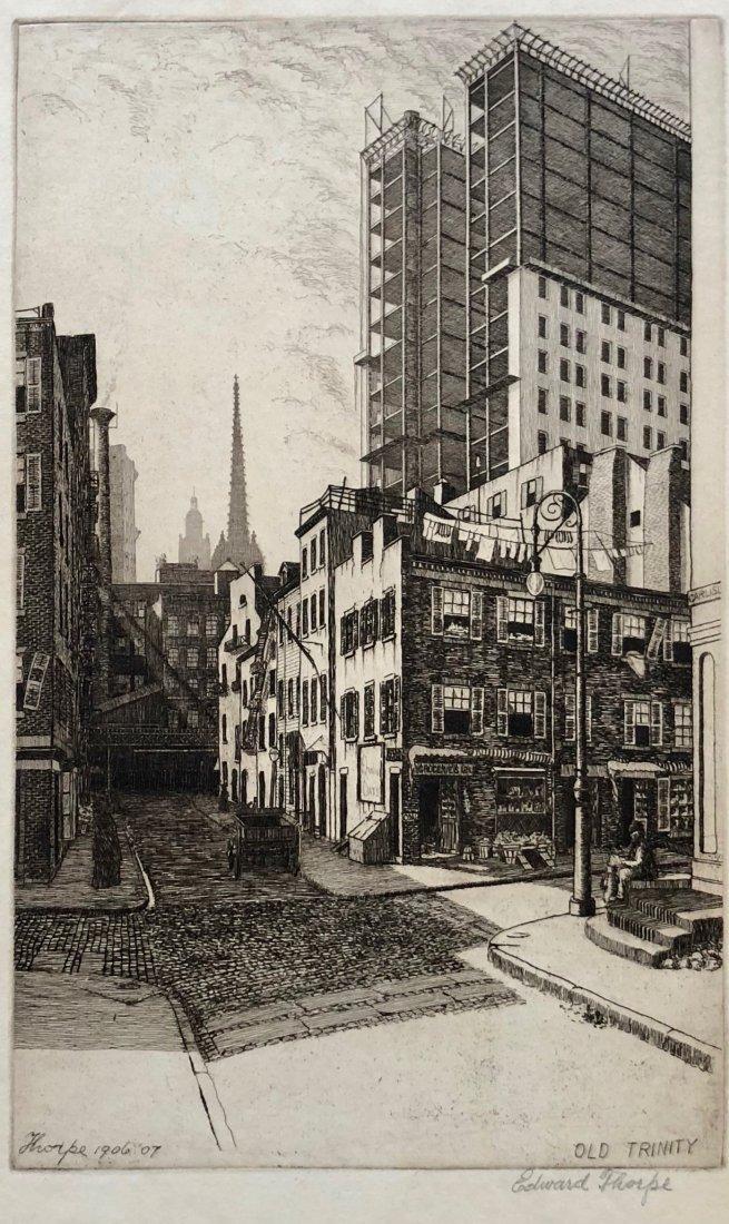 EDWARD THORPE (NJ, NY 20th C) Old Trinity