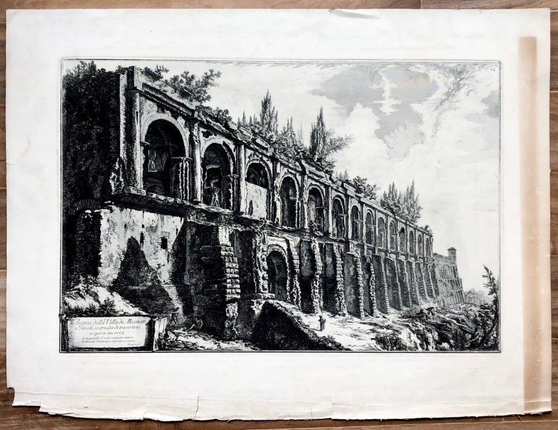GIOVANNI PIRANESI - Avanzi della Villa di Mecenate - 2