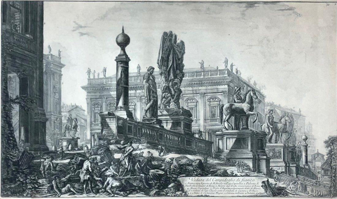 GIOVANNI PIRANESI - Venduta del Campidoglio di fianco